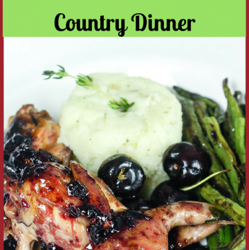 Brined Quail with Cherry Port Sauce - French Country Dinner