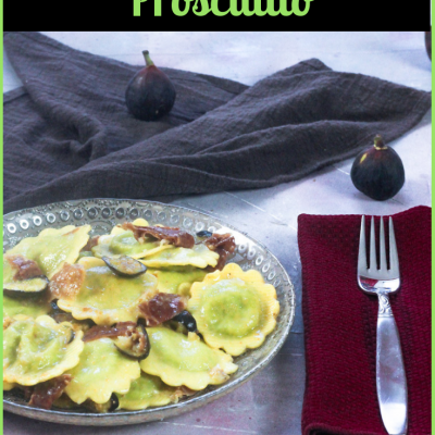 Ravioli with Figs and Proscuitto