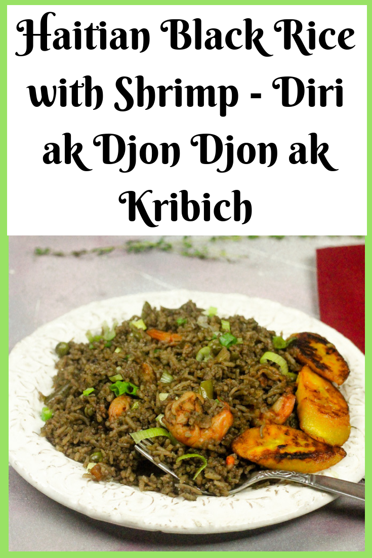 Haitian Black Mushroom Rice with Shrimp - Diri Ak Djon Djon ak Kribich
