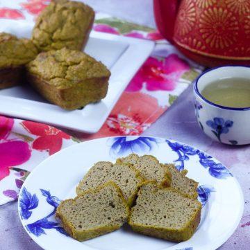 Pumpkin Coconut Flour Tea Cake