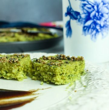 Spinach Dhokla - Gluten Free Indian Savory Cake