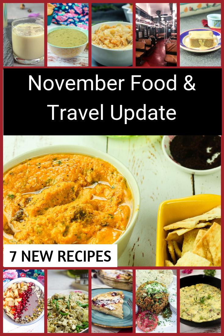 November Food & Travel Update