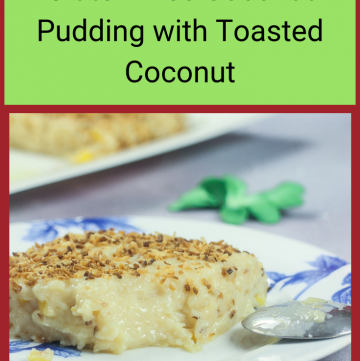 Maja Blanca - Gluten Free Filipino Coconut Pudding