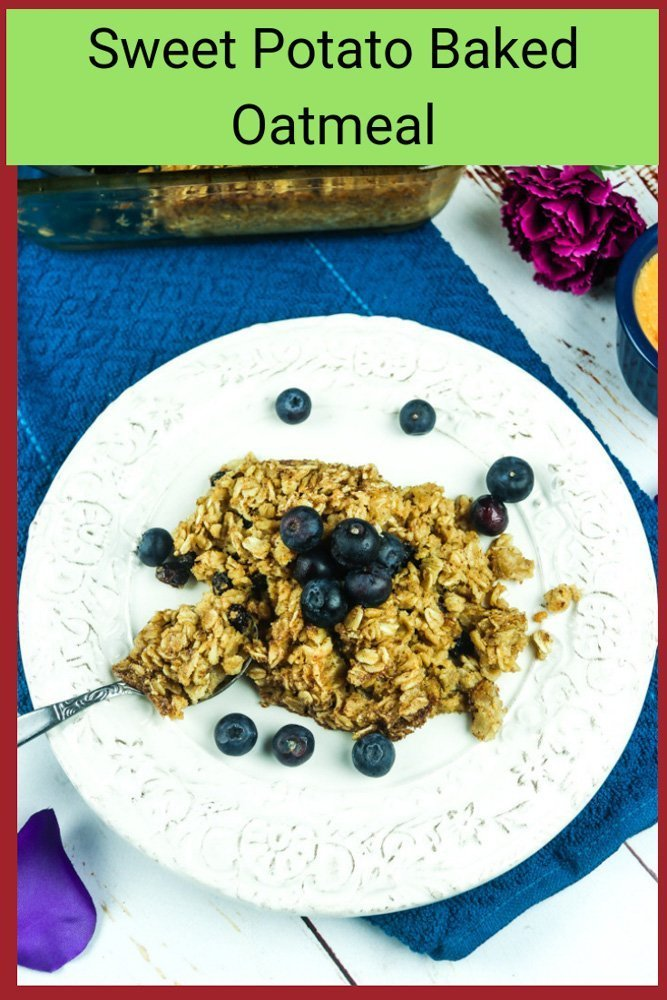 oatmeal and berries with text
