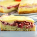 Chilean Strawberry Kuchen ~ Cream Tart