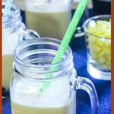 Pineapple Ginger Bubble Tea – Vegan Boba Milk Tea