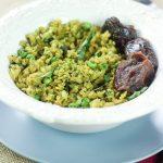 Coriander Matar Poha - Flattened Rice with Cilantro & Green Peas