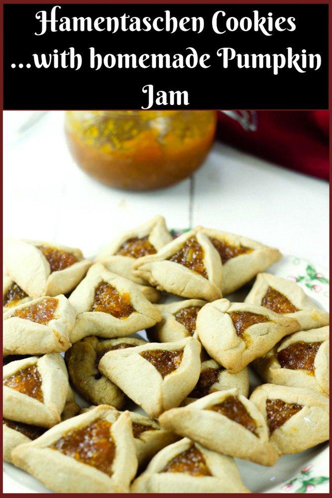 Hamentaschen Cookies with Pumpkin Jam filling
