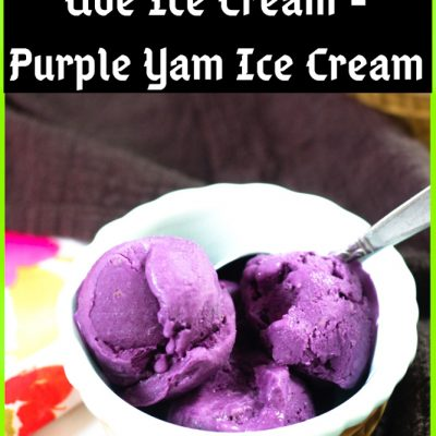 Ube Ice Cream – Purple Yam Ice Cream – Ube Jam Method