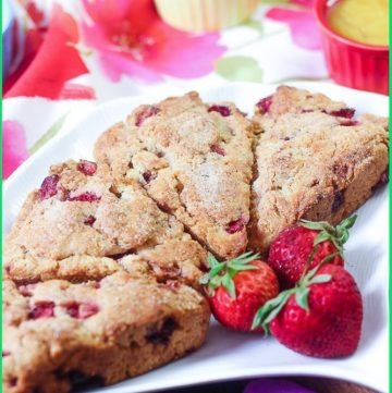plate of Strawberry Cream Scones