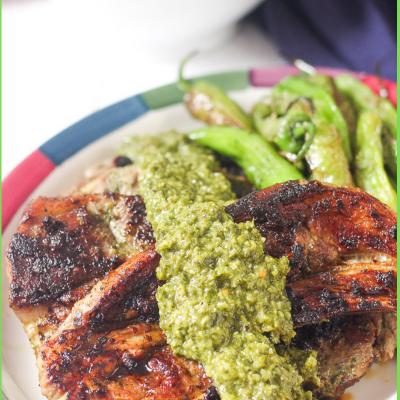 Chimichurri Lamb Chop Dinner