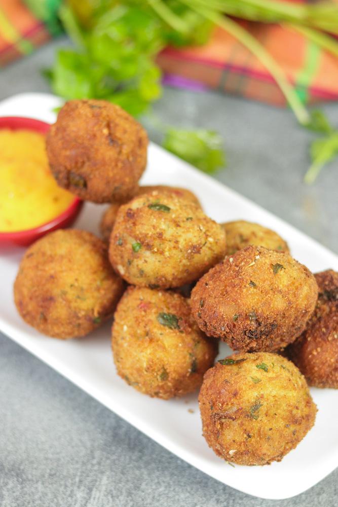 Breadfruit Puffs on plate