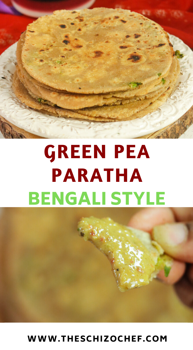 Green Pea Paratha with curry