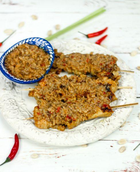 Malaysian Style Chicken Satay with Peanut Sauce