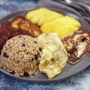 Gallo Pinto - Costa Rican Rice & Bean Breakfast Platter