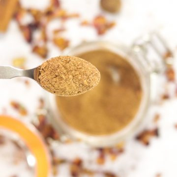 spice on a spoon