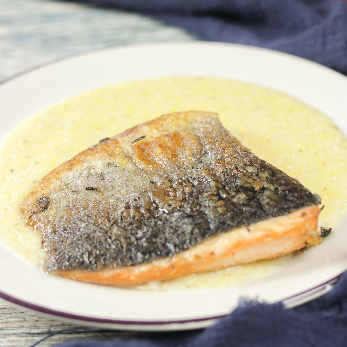 fish and polenta