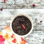 bowl of homemade cranberry sauce recipe