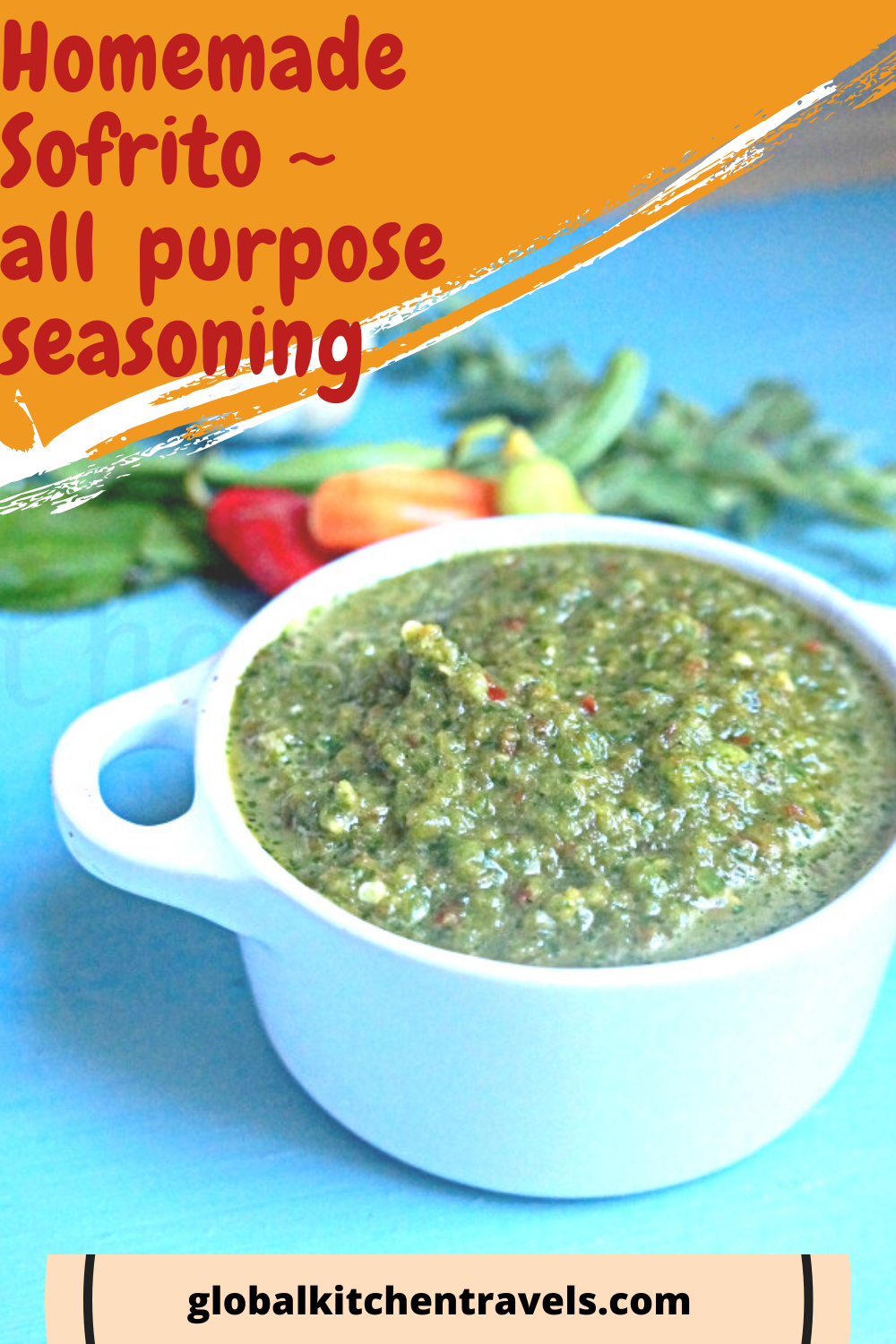 bowl of sofrito with text