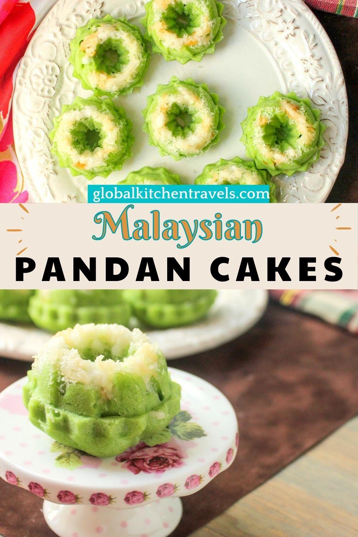 Pandan Cakes with text