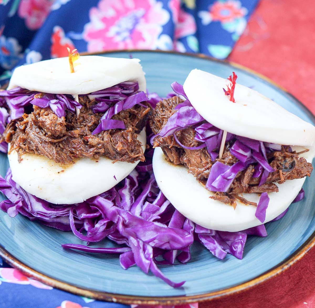Red Curry Milk Pork Bao Sandwich