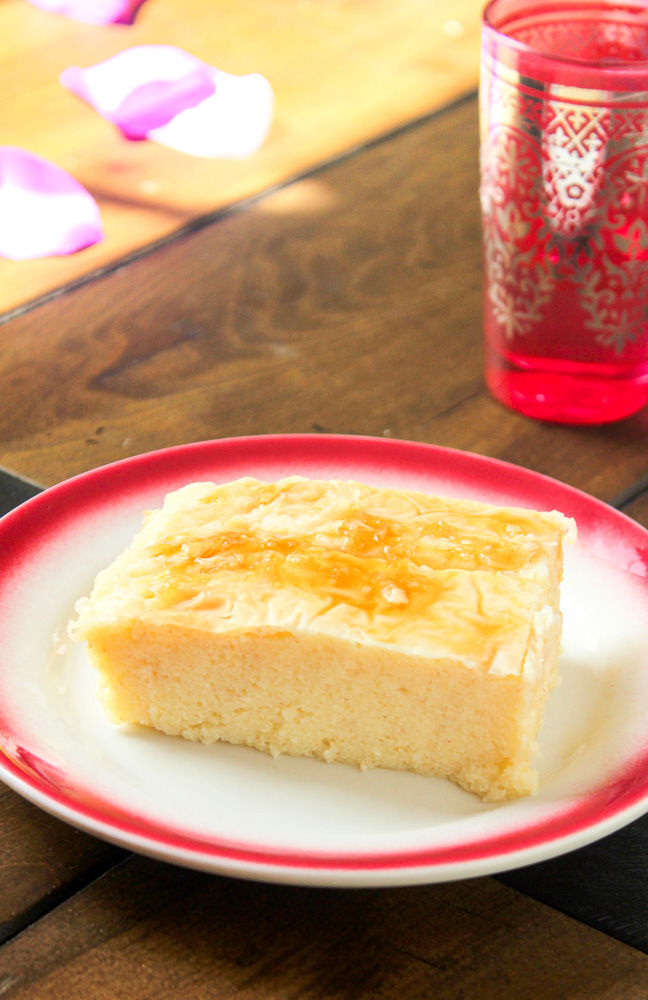 Galaktoboureko Greek Custard Pie on a plate