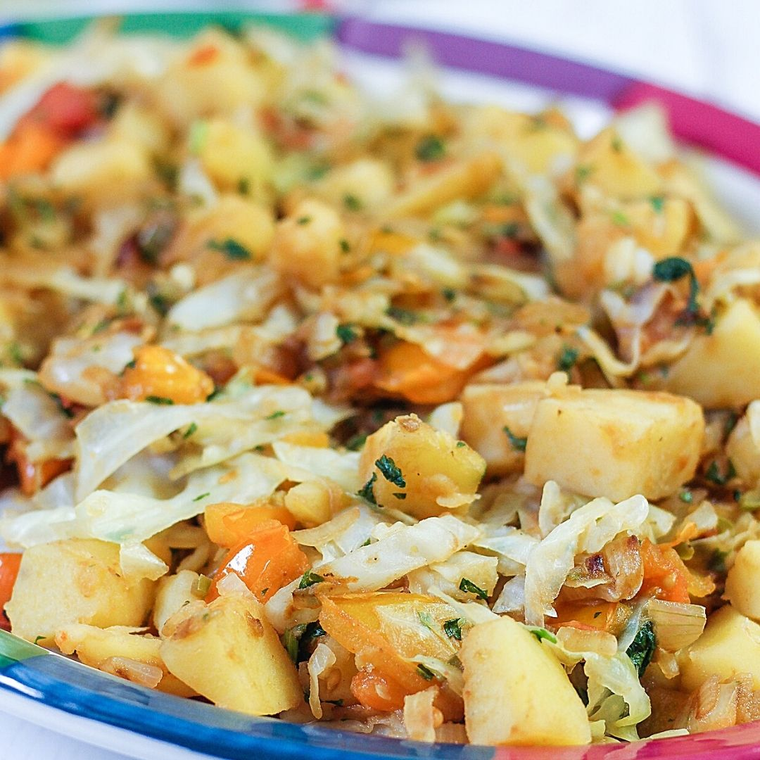 Spicy Cabbage Potatoes Bolivian Style Global Kitchen Travels