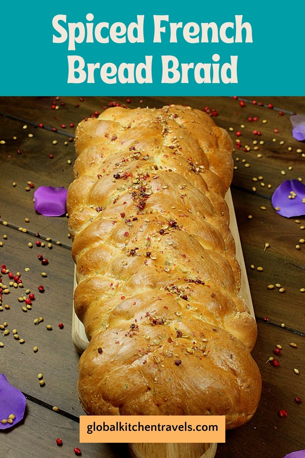 7 strand braided French Bread with text
