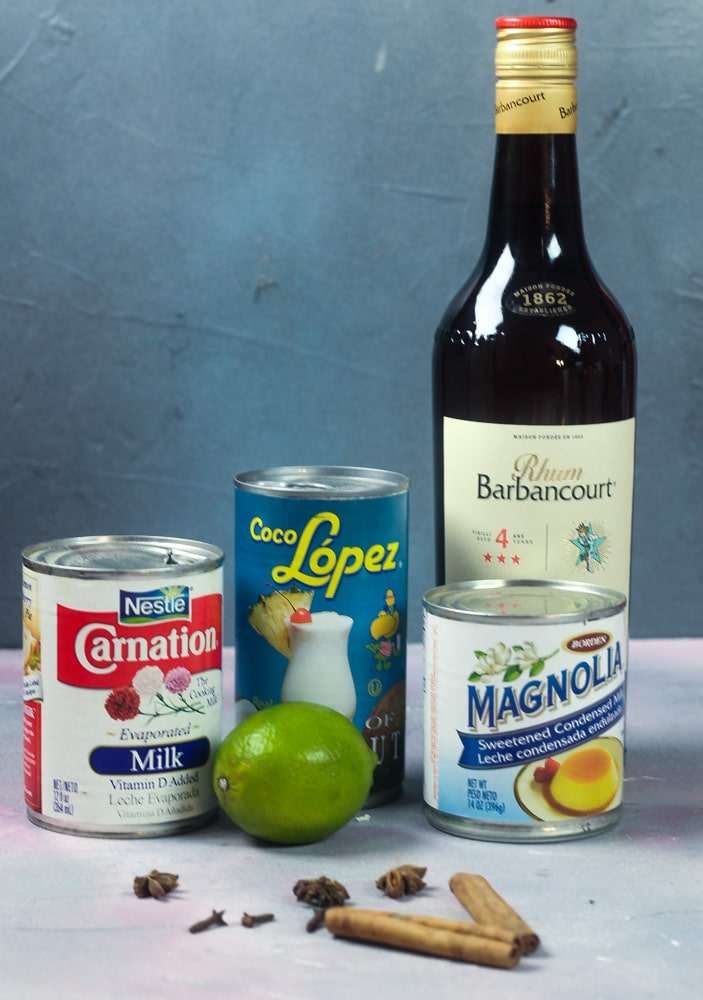 ingredients for Haitian Kremas Drinks recipe