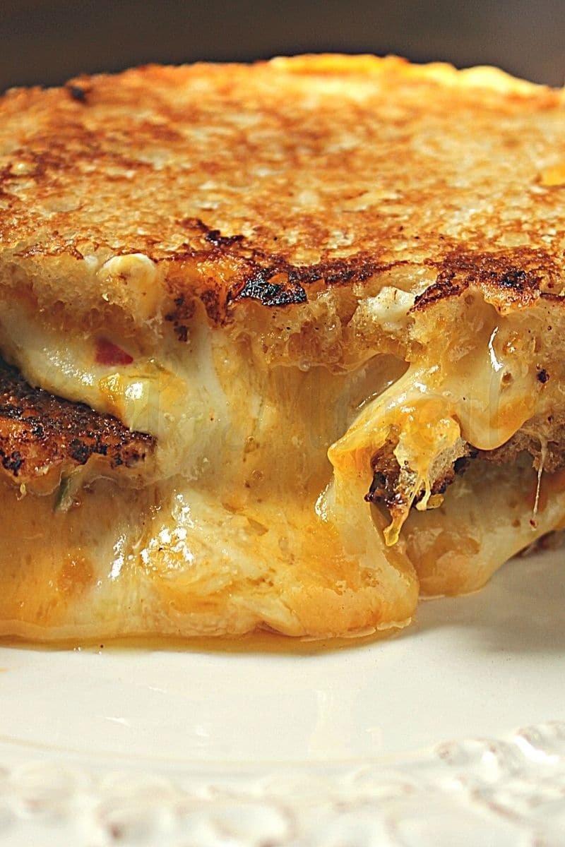 Grilled Cheese Sandwich with 4 cheeses.