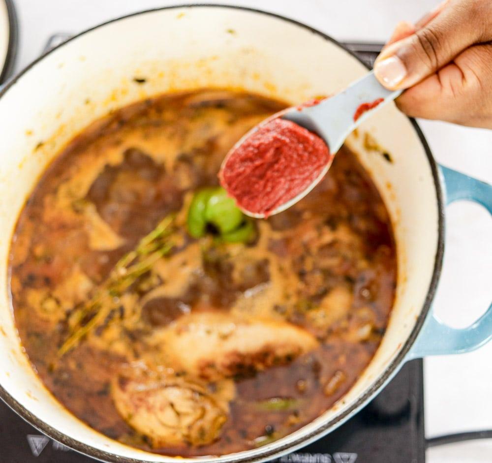 Haitian Poulet en Sauce