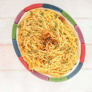 plate of Haitian spaghetti