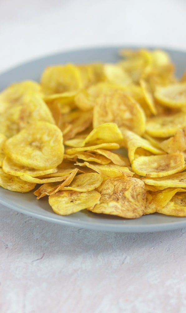 Paleo Plantain Chips - Air Fryer Green Plantains