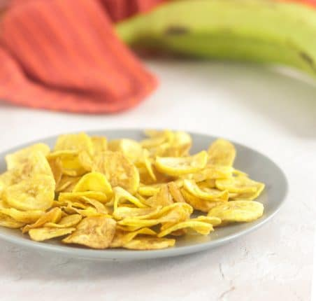 How to make crispy plantain chips in the air fryer