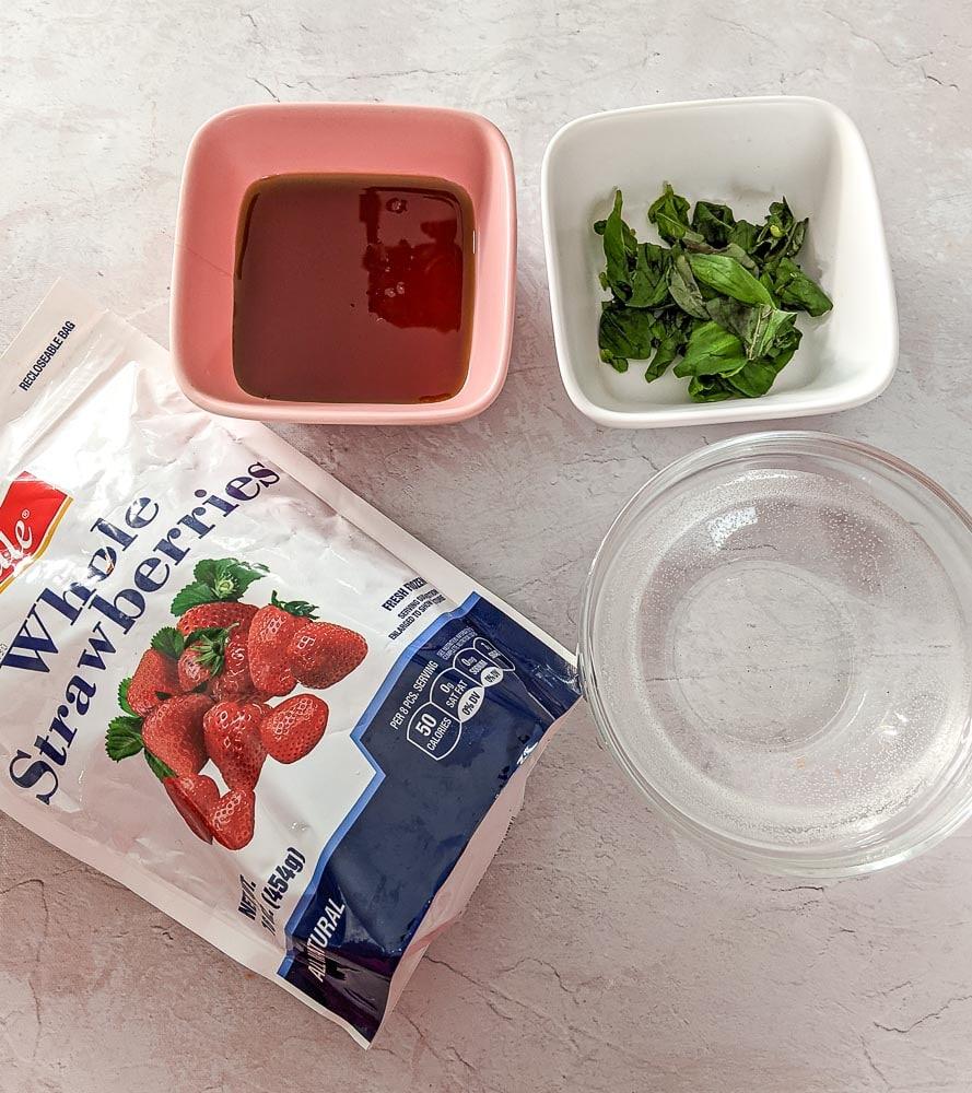 ingredients for frozen strawberry slush recipe