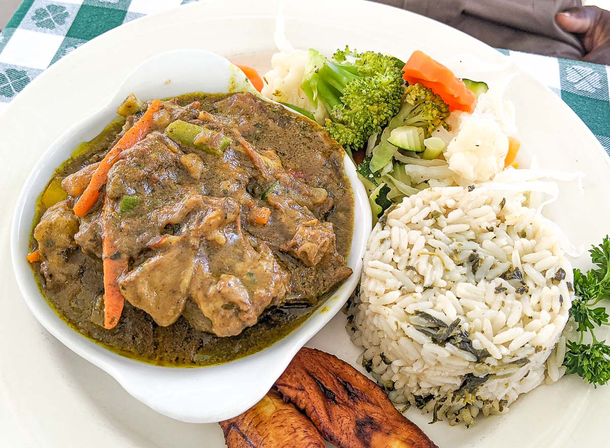 Curry Goat from Hemingway's Restaurant Antigua