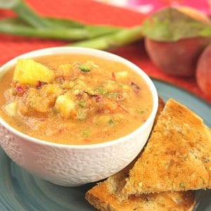Cold Spanish Watermelon Gazpacho Soup