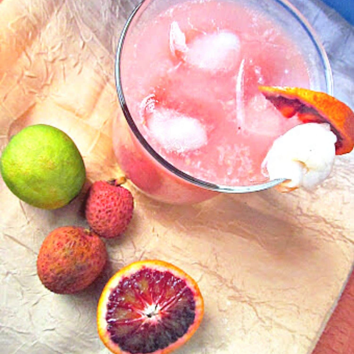 Homemade Citrus Punch with Lychee