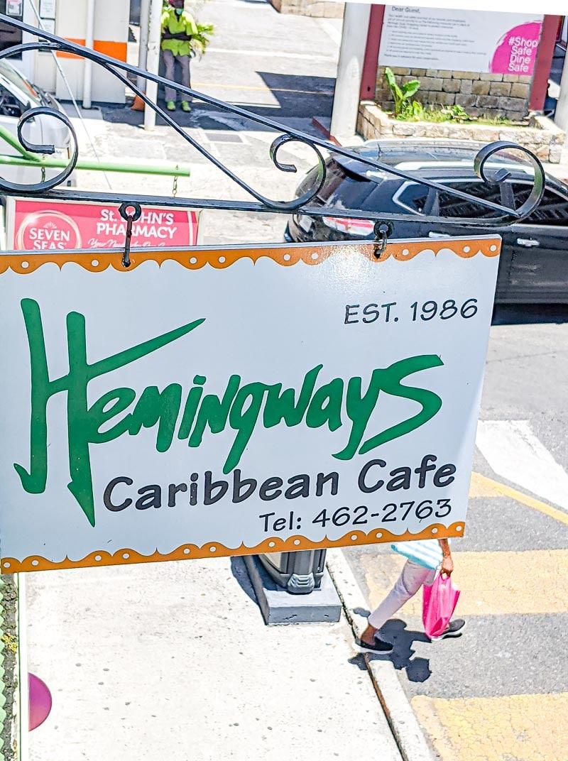 Hemingway's Caribbean Cafe Restaurant Review in Antigua