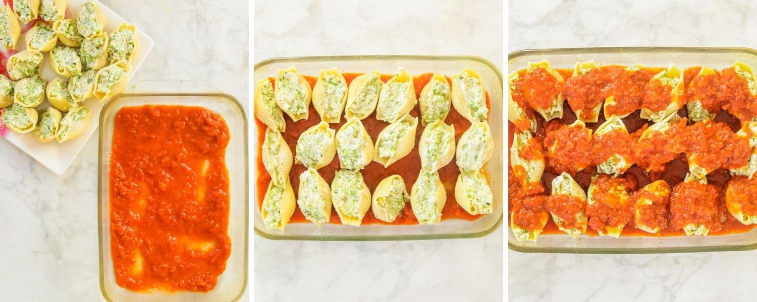 Vegetarian Large Pasta Shells with Ricotta and Broccoli