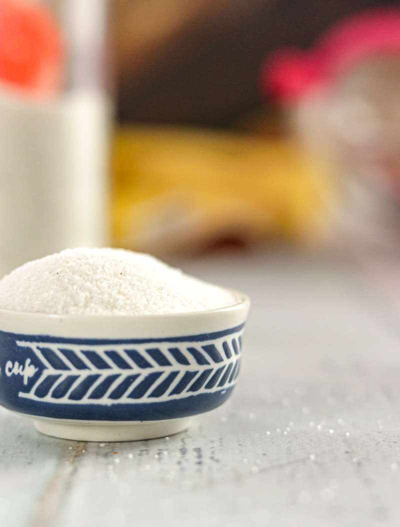 Vanilla sugar in a bowl