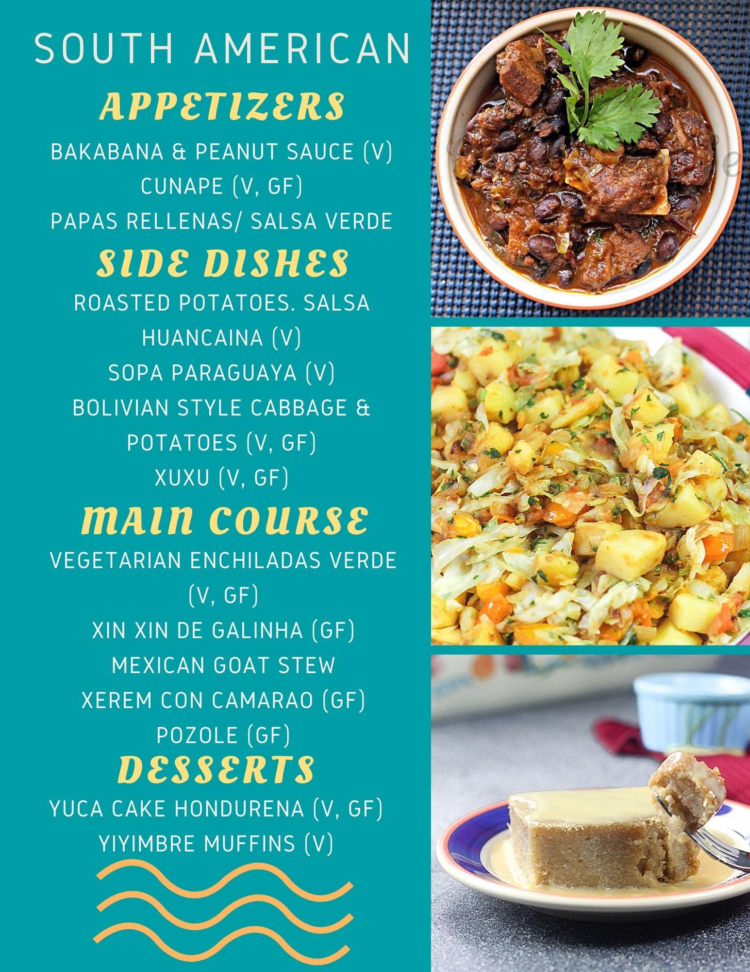 Latin Thanksgiving Menu Recipes without turkey