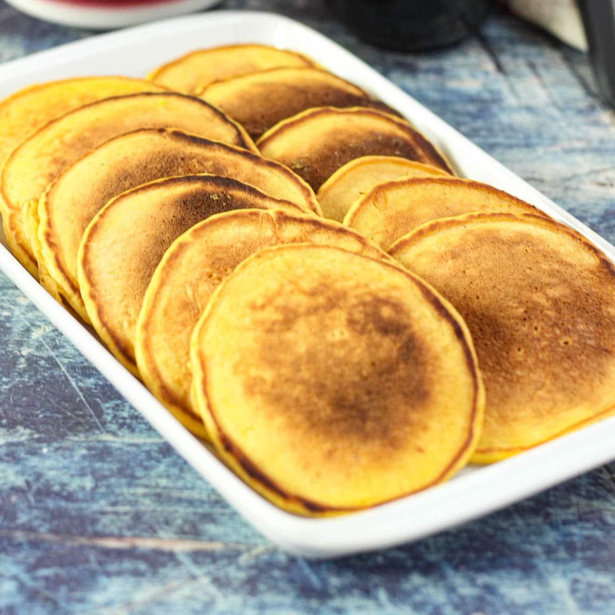 Pumpkin Pancakes on a platter