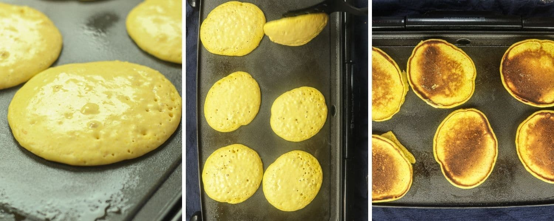 making Pumpkin Pancakes