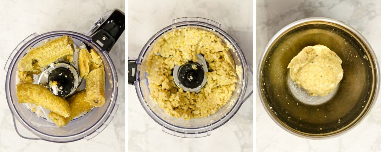 How to make plantain dumplings for Peanut Soup - Suriname Style