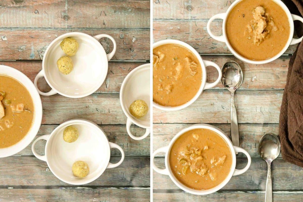 Peanut Soup with Plantain Dumplings